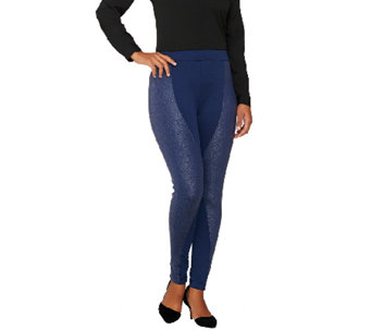 GK George Kotsiopoulos Regular Ponte Knit Mixed Media Leggings - A263366