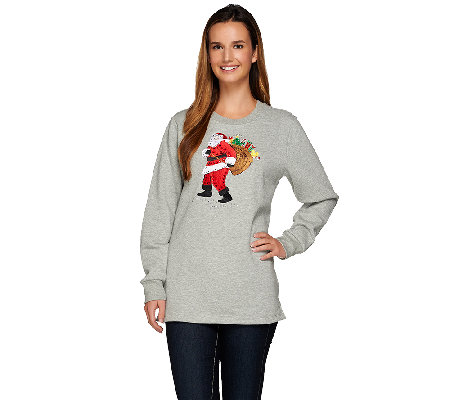 Quacker Factory Holiday Spirit French Terry Sweatshirt