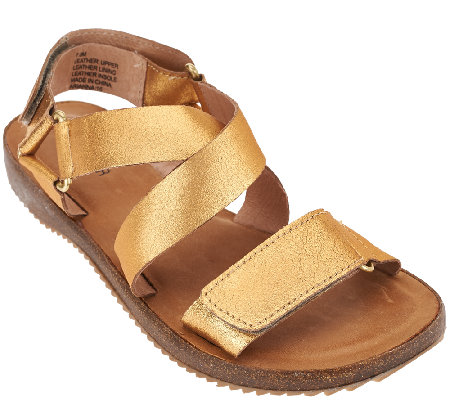 """As Is"" Adam Tucker Quarter Strap Adjustable Sandals-Arianna"
