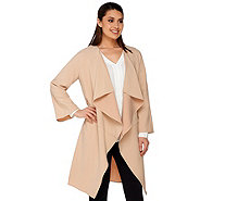 H by Halston Waterfall Collar Jacket - A274566