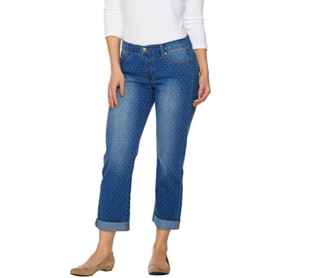 Women with Control My Wonder Denim Polka Dot Boyfriend Jeans