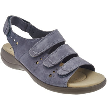 Clarks Leather Adj. Triple Strap Sandals - Saylie Whitman - A276066