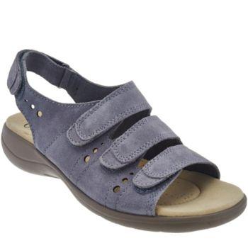 Clarks Leather Adj. Triple Strap Sandals - Saylie Whitman