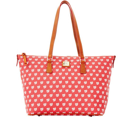 Dooney & Bourke MLB Nationals Zip Top Shopper