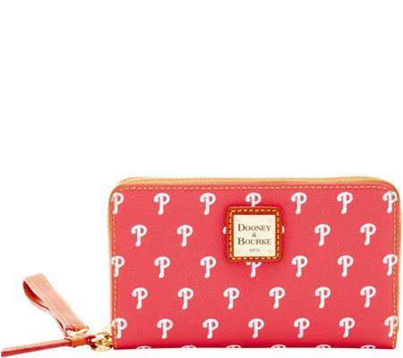 Dooney & Bourke MLB Phillies Zip Around Phone Wristlet