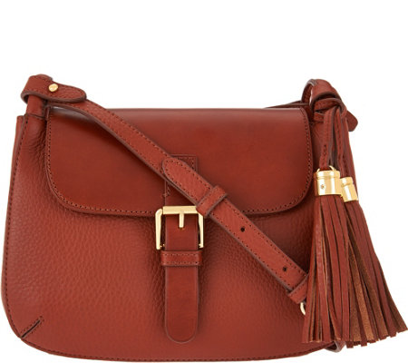 Isaac Mizrahi Live! Bridgehampton Pebble Leather Crossbody