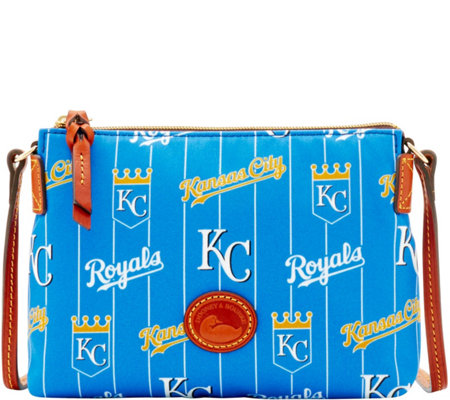 Dooney & Bourke MLB Nylon Royals Crossbody Pouchette