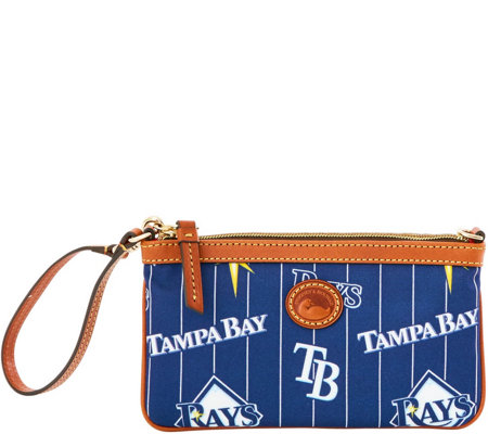 Dooney & Bourke MLB Nylon Rays Large Slim Wristlet