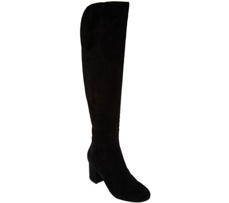 Isaac Mizrahi Live! Suede Over-the-Knee Boots with Block Heel