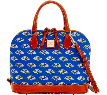 Dooney & Bourke NFL Ravens Zip Zip Satchel