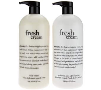 philosophy super-size olive oil scrub & body lotion duo - A285966