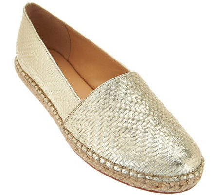 """As Is"" C. Wonder Embossed Leather Espadrilles - Margot"