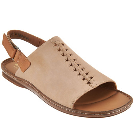 Clarks Leather Sandals w/ Ankle Strap - Sarla Forte