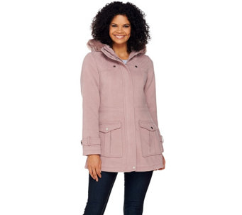 """As Is"" Liz Claiborne New York Anorak with Quilting Details - A291266"