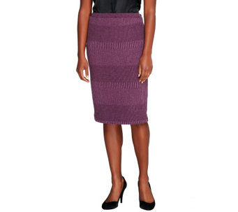 """As Is"" Joan Rivers Wardrobe Builders Knit Slim Skirt - A291566"