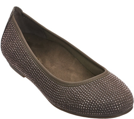 """As Is"" Vionic Orthotic Leather Ballet Flats - Willow"