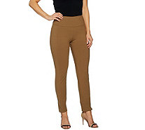 Women with Control Regular Tummy Control Slim Leg Pants w/ Seam Detail - A292366
