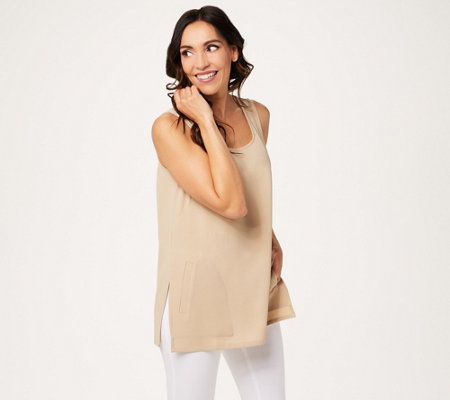 Linea by Louis Dell'Olio Gauze Crepe Swing Tank