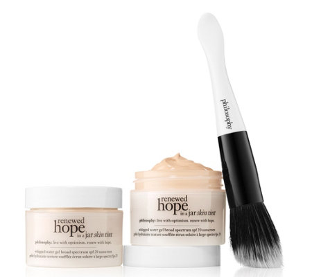 philosophy super-size renewed hope in a jar skin tint with brush