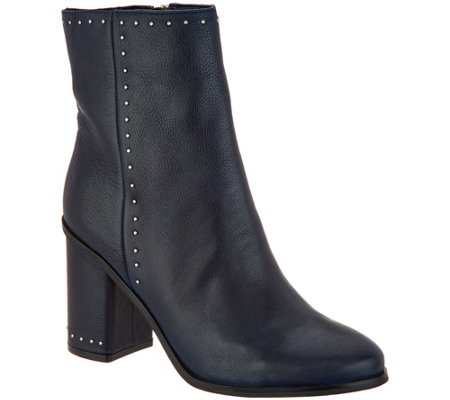 """As Is"" Marc Fisher Studded Leather Ankle Boots - Piazza"