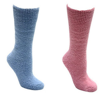 MUK LUKS Women's Micro Chenille Knee-High Socks - A324966