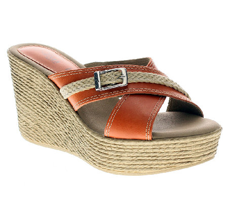 Azura by Spring Step Leather Slide Sandals -Paula