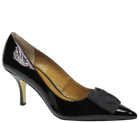 J. Renee Leather Pointed Toe Pumps - Camley