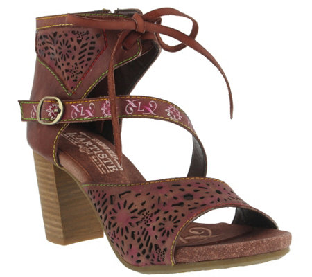 L'Artiste By Spring Step Leather Perforated Sandals - Sujala