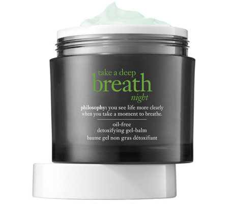 philosophy take a deep breath night oil-free gel balm