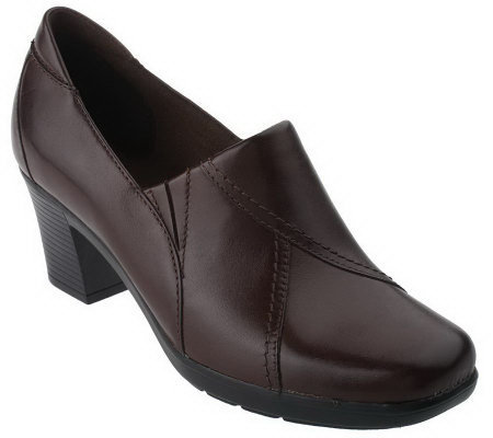 Clarks Bendables Leather Slip-on Shooties
