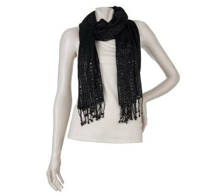 Joan Rivers Woven with Style Sequin Scarf