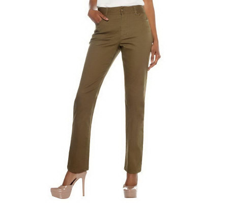 "Women with Control ""My WonderJean"" Straight Leg Regular Pants"