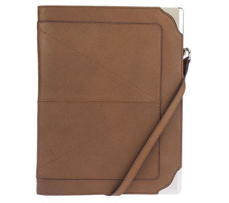 B. Makowsky Leather Zip Around iPad Case