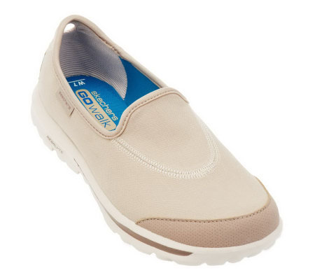 Skechers GOwalk Canvas Slip-on Sneakers