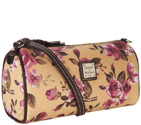 Dooney & Bourke Coated Cotton Cabbage Rose Small Barrel Bag