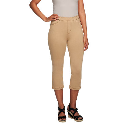 Susan Graver Essentials French Knit Capri Length Jeggings