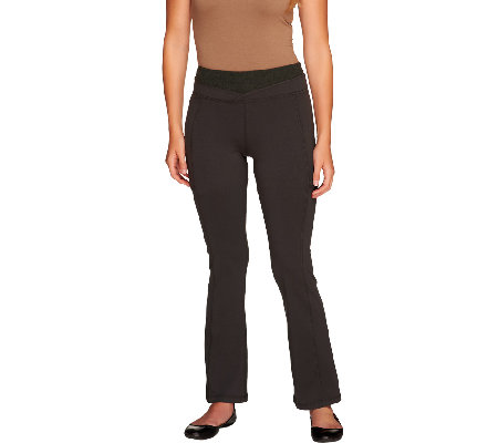 Women with Control Petite Tummy Control Contrast Waist Pants