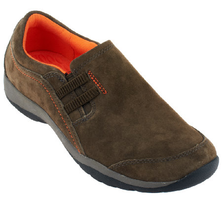 Clarks Nubuck Slip-On Shoes - Verdict Graham