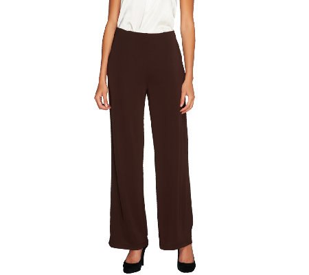 Susan Graver Premier Knit Wide Leg Pants - Regular