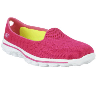 """As Is""Skechers GOwalk 2 Axis Mesh Slip On Shoes - A260967"