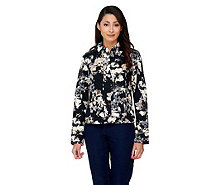Isaac Mizrahi Live! Allover Watercolor Floral Jacket - A262067