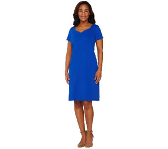 Liz Claiborne New York Essentials Dress with Sweetheart Neck - A262967