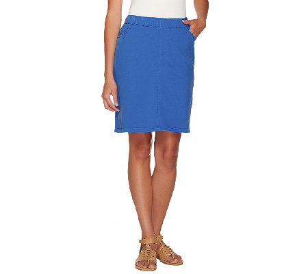 "Denim & Co. ""How Comfy"" Skort with Side Pockets"