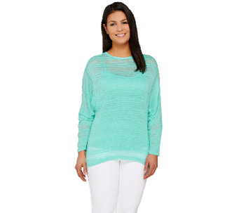 Lisa Rinna Collection Dolman Sleeve Sweater Knit Top - A264567