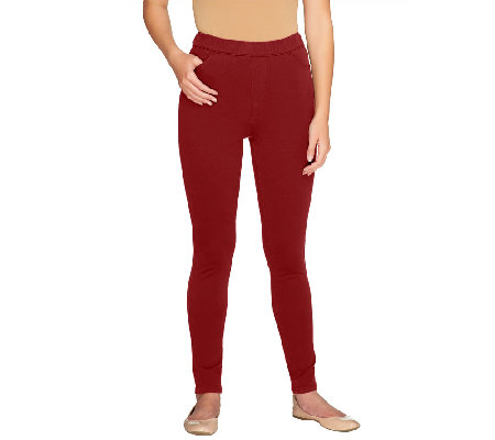 """As Is"" Denim & Co. ""How Comfy"" Petite Pull-on Leggings"