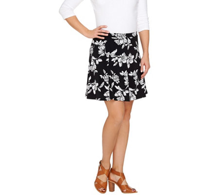 Susan Graver Liquid Knit 8 Gore Pull-On Skort