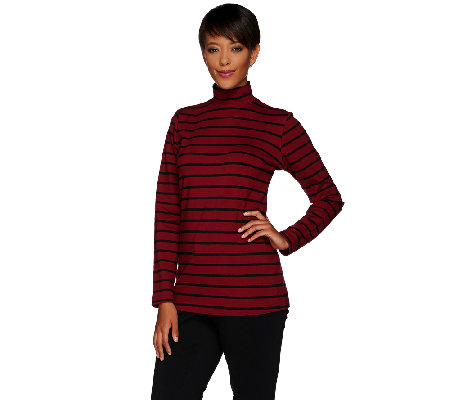 Linea Leisure by Louis Dell'Olio Striped Knit Turtleneck