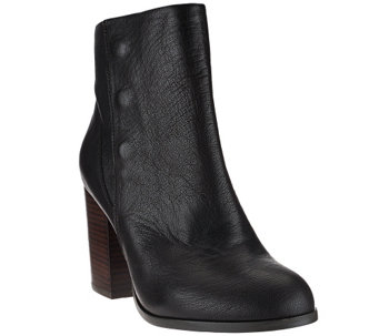 Sole Society Leather Ankle Boots w/Snap Detail - Henley - A270967