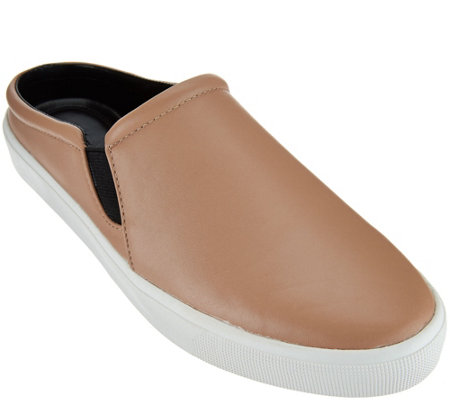 H by Halston Leather Slide-On Shoes - Ellie