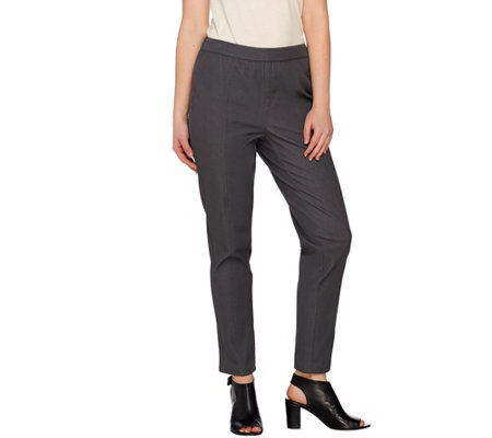 H by Halston Studio Stretch Pull-on Slim Ankle Pants